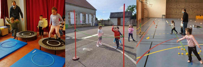 Séance aboutissement athlétisme maternelle
